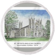 St. Peter's Anglican Church Round Beach Towel