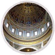 St. Peters Basilica Dome Round Beach Towel