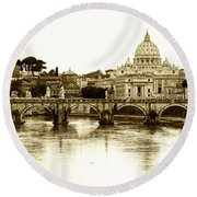 Round Beach Towel featuring the photograph St. Peters Basilica by Mircea Costina Photography