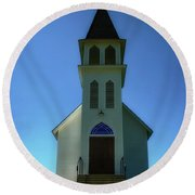 Round Beach Towel featuring the photograph St. Peter's Church 2 by Joseph Hollingsworth