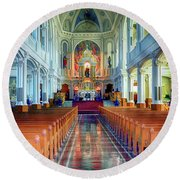 St Peters Church  Round Beach Towel