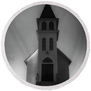 Round Beach Towel featuring the photograph St. Peter's Church by Joseph Hollingsworth