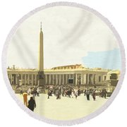 St. Peter's Square The Vatican Round Beach Towel