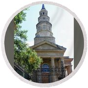 St. Phillips Episcopal Church, Charleston, South Carolina Round Beach Towel