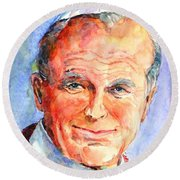 St. Pope Paul John II Round Beach Towel