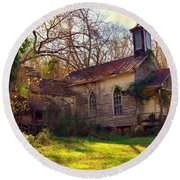 St Simon Church Peak Sc Round Beach Towel