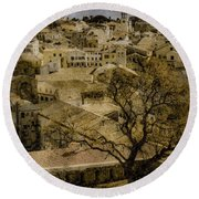 Round Beach Towel featuring the photograph Corfu, Greece - St. Spyridon by Mark Forte