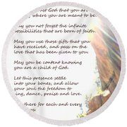 St Therese Of Lisieux Prayer And True Light Lower Emerald Pools Zion Round Beach Towel