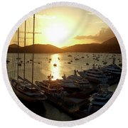 St. Thomas Harbor Round Beach Towel