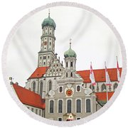 St. Ulrich's And St. Afra's Abbey Round Beach Towel