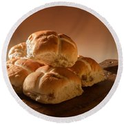 Stack Of Hot Cross Buns Round Beach Towel