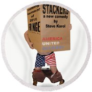 Stackers Poster Round Beach Towel
