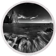 Stacks In Olympic Round Beach Towel by Jon Glaser