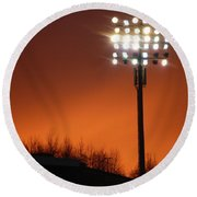 Stadium Lights Round Beach Towel