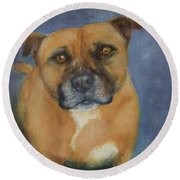 Staffordshire Bull Terrier Round Beach Towel