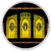 Stained Glass Round Beach Towel
