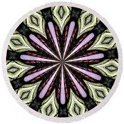 Stained Glass Kaleidoscope 25 Round Beach Towel by Rose Santuci-Sofranko
