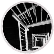 Staircase I Round Beach Towel