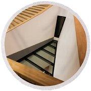 Staircase In Elbphiharmonic Round Beach Towel