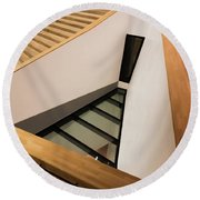 Staircase In Elbphiharmonic Round Beach Towel