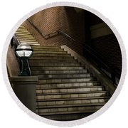 Staircase On The Blvd. Round Beach Towel