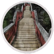 Stairs To Bliss Round Beach Towel