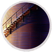 Stairway Abstraction Round Beach Towel