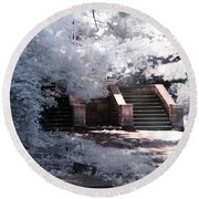 Round Beach Towel featuring the photograph Stairway To Heaven by Helga Novelli