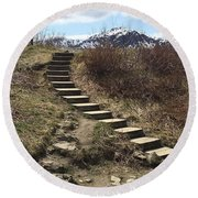 Stairway To Heaven II Round Beach Towel