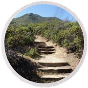 Stairway To Heaven On Mt Tamalpais Round Beach Towel
