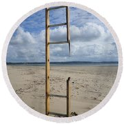 Stairway To Heaven Round Beach Towel by Richard Brookes
