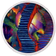Stairways Round Beach Towel