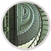 Stairwell Currituck Beach Lighthouse Round Beach Towel