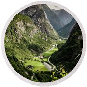 Stalheim Valley Round Beach Towel