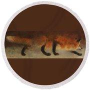 Stalking Fox Round Beach Towel