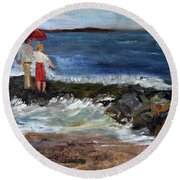 Stand By Me Round Beach Towel