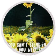 Round Beach Towel featuring the photograph Stand Out by Andrea Anderegg