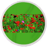 Stand Out Round Beach Towel by Timothy Hack
