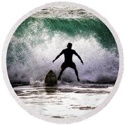 Standby Surfer Round Beach Towel