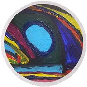 Standing Before The Cavern Of Wisdom, Knowledge And Understanding  Round Beach Towel