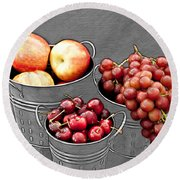 Round Beach Towel featuring the photograph Standing Out As Fruit by Sherry Hallemeier