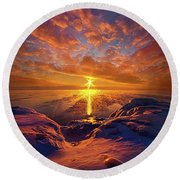 Round Beach Towel featuring the photograph Standing Stilled by Phil Koch