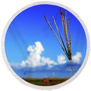 Round Beach Towel featuring the photograph Standing Tall by Gary Wonning