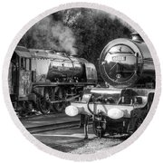 Stanier Pacifics At Swanwick Round Beach Towel
