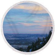 Stanley Canyon Hike Round Beach Towel