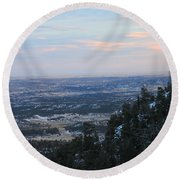 Stanley Canyon View Round Beach Towel