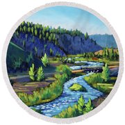 Stanley Creek Round Beach Towel