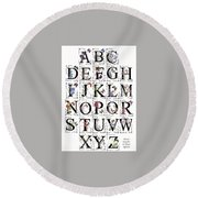 Stanza's Flowers And Butterflies Book Round Beach Towel