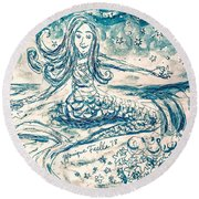 Star Bearer Mermaid Round Beach Towel