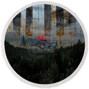 Star Castle Round Beach Towel